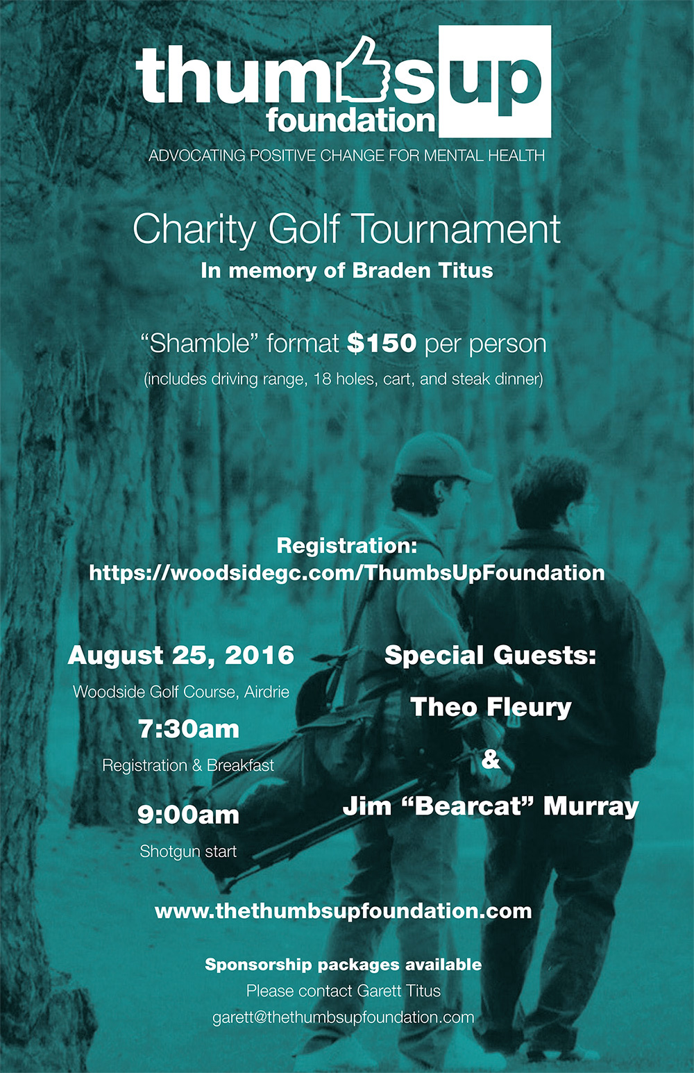 Thumbs Up Foundation Golf Tournament Poster 2016