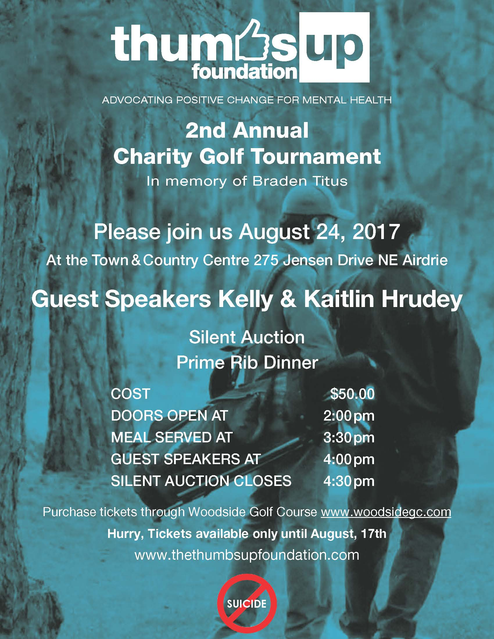 Thumbs Up Foundation Golf Banquet Poster 2017